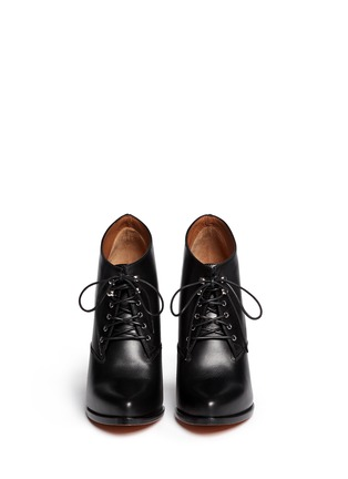 Figure View - Click To Enlarge - Givenchy - 'Pure' lace-up leather booties