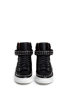 GIVENCHY'Tyson' stud leather high top sneakers