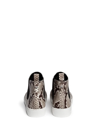 Back View - Click To Enlarge - Michael Kors - 'Keaton' snake effect leather high top boots