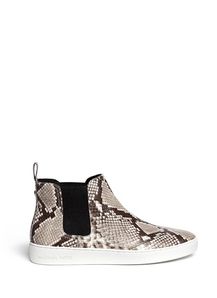 Main View - Click To Enlarge - Michael Kors - 'Keaton' snake effect leather high top boots