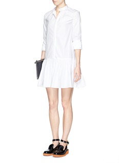 THAKOON Gathered drop waist shirt dress