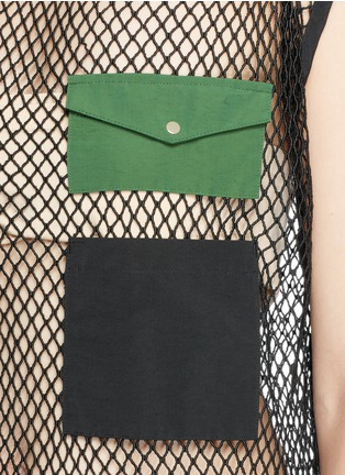 Detail View - Click To Enlarge - TOGA ARCHIVES - Skirt overlay patchwork mesh dress