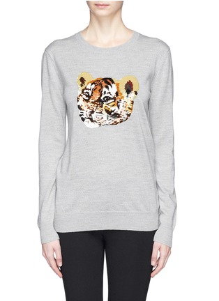 Main View - Click To Enlarge - MARKUS LUPFER - 'Tiger Cub' sequin Natalie sweater