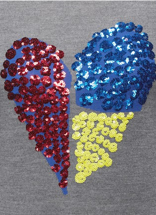 Detail View - Click To Enlarge - MARKUS LUPFER - 'Tribal Spot' sequin heart Natalie sweater