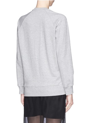 Back View - Click To Enlarge - MARKUS LUPFER - 'Tribal' Smacker Lip Tribal' jewel sweatshirt