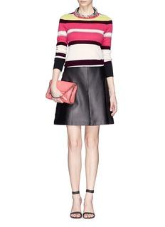 DIANE VON FURSTENBERG'Jolanta' variegated stripe cashmere sweater