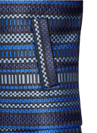 Detail View - Click To Enlarge - DIANE VON FURSTENBERG - 'Teyona' stripe jacquard blazer