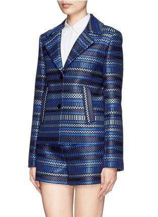 Front View - Click To Enlarge - DIANE VON FURSTENBERG - 'Teyona' stripe jacquard blazer