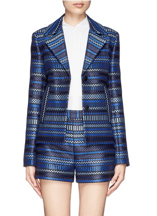 Main View - Click To Enlarge - DIANE VON FURSTENBERG - 'Teyona' stripe jacquard blazer