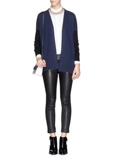 DIANE VON FURSTENBERG'Jalika' contrast trim cashmere cardigan