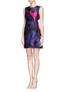 DIANE VON FURSTENBERG'Yvette' poppy leopard print dress