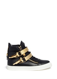 GIUSEPPE ZANOTTI DESIGN 'London' metal plate ski buckle sneakers