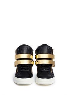 GIUSEPPE ZANOTTI DESIGN'London' metal plate ski buckle sneakers