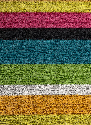 Main View - Click To Enlarge - Chilewich - Shag Bold Stripe door mat