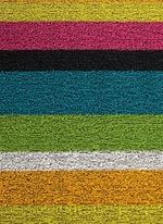Shag Bold Stripe door mat