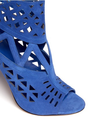 Detail View - Click To Enlarge - B BY BRIAN ATWOOD - Levens suede laser-cut sandals