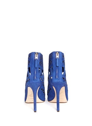 Back View - Click To Enlarge - B BY BRIAN ATWOOD - Levens suede laser-cut sandals