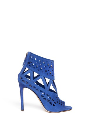 Main View - Click To Enlarge - B BY BRIAN ATWOOD - Levens suede laser-cut sandals