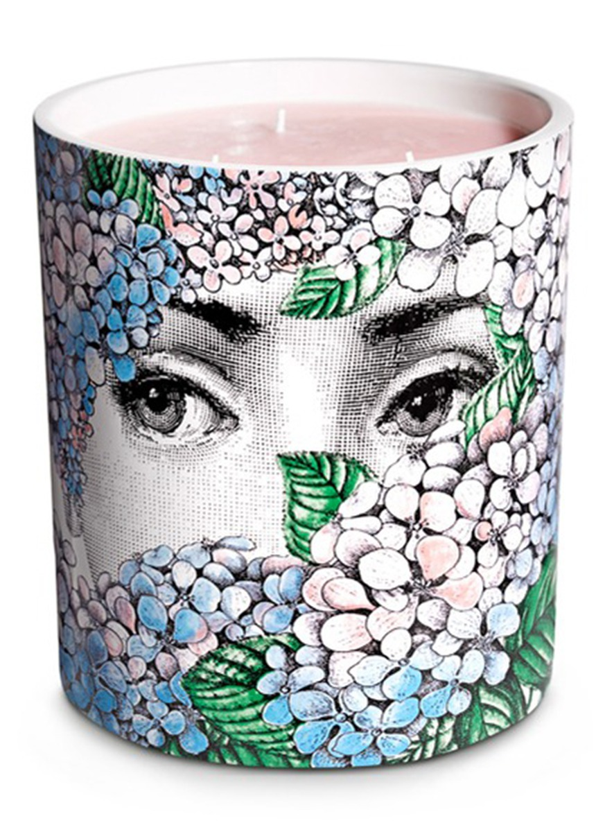 Ortensia large scented candle by Fornasetti