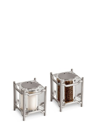 Main View - Click To Enlarge - L'Objet - Han Salt and Pepper Shakers - Platinum