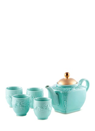 Main View - Click To Enlarge - ALISON APPLETON - Golden Carp teapot and cup set