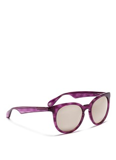 ANDERNE'It Had To Be You' acetate mirror sunglasses
