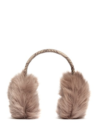 Main View - Click To Enlarge - KARL DONOGHUE - Old cuir Toscana sheepskin wool band ear muffs