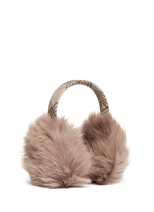 Figure View - Click To Enlarge - KARL DONOGHUE - Old cuir Toscana sheepskin wool band ear muffs