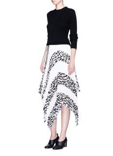 Proenza SchoulerHandkerchief hem leopard print pleated skirt