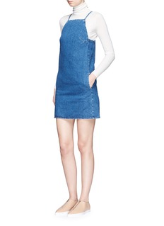 TopshopDenim sleeveless mini dress