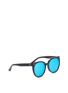 Stephane + Christian 'Petit Monroe' oversized cat eye acetate mirror kids sunglasses