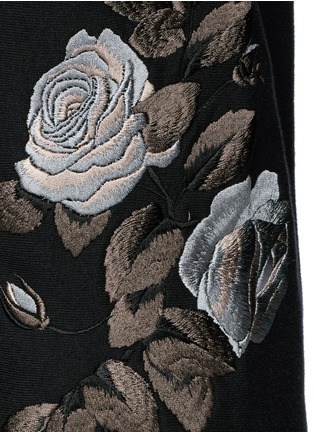 Detail View - Click To Enlarge - Alexander McQueen - Floral embroidery jogging pants