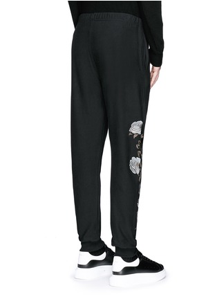 Back View - Click To Enlarge - Alexander McQueen - Floral embroidery jogging pants