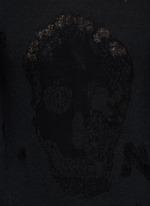 Distressed skull wool-cotton sweater