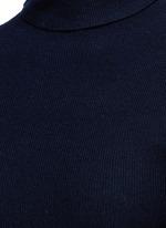 Turtleneck rib knit maxi dress