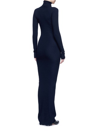 Back View - Click To Enlarge - Stella McCartney - Turtleneck rib knit maxi dress