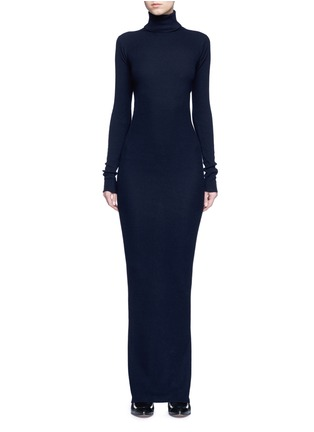 Main View - Click To Enlarge - Stella McCartney - Turtleneck rib knit maxi dress