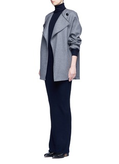 Stella McCartneyTurtleneck rib knit maxi dress