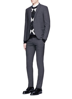 Alexander McQueenLace collar underlay cotton poplin shirt
