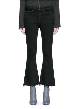 Detail View - Click To Enlarge - rag & bone/JEAN - 'Crop Flare' fray cuff jeans