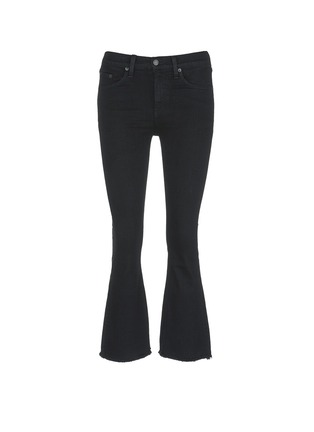 Main View - Click To Enlarge - rag & bone/JEAN - 'Crop Flare' fray cuff jeans