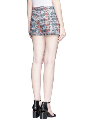Back View - Click To Enlarge - Talitha - Diamond embroidered shorts