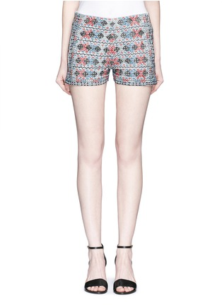 Main View - Click To Enlarge - Talitha - Diamond embroidered shorts