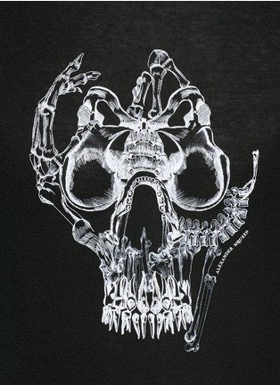 Detail View - Click To Enlarge - Alexander McQueen - Skull print T-shirt