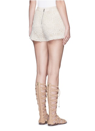 Back View - Click To Enlarge - alice + olivia - 'Susi' geometric Crochet lace shorts
