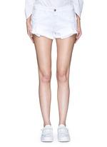 'WM5' cutoff denim shorts