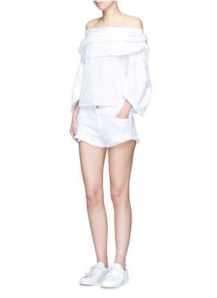 Figure View - Click To Enlarge - 3x1 - 'WM5' cutoff denim shorts