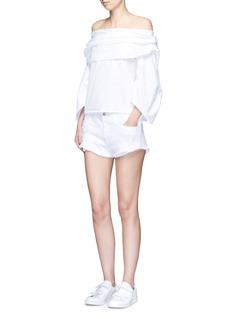 3x1'WM5' cutoff denim shorts