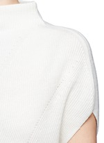 Wool-cashmere sleeveless sweater