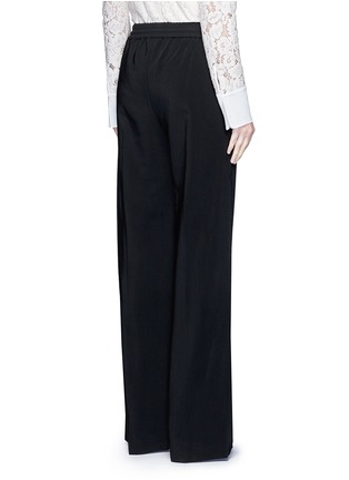 Back View - Click To Enlarge - Lanvin - Contrast pocket stripe elastic twill pants
